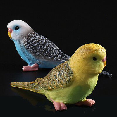 Plastic Realistic Bird Model Animals Action Figures Toys Budgerigar Kids Xmas