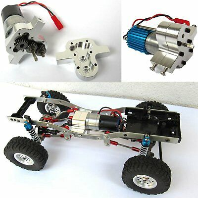 WPL 4WD 6WD RC Car Truck DIY Upgrade Special Metal Transfer Case Box with Motor