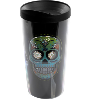 Double Wall Tumbler Dia de los Muertos Day of the Dead 16 oz. Cali Calavera