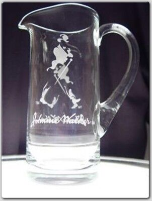 Johnnie Walker Scotch Whisky Glass Water Jug Rare Genuine Quality New In Box