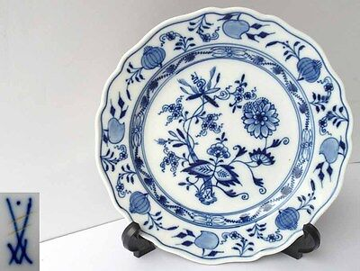 Old Meissen Porcelain Plate, Onion Pattern Indian Blue G547