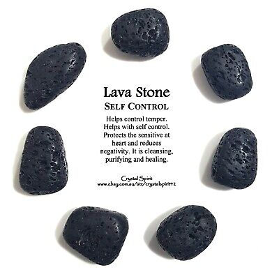*1* LAVA STONE Natural Tumbled Stone Approx 20mm-30mm *TRUSTED SELLER*