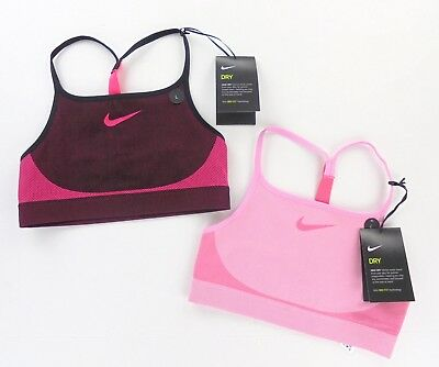 Nike girls seamless sport training bra sz L style 890289 pick color Pink Red NEW