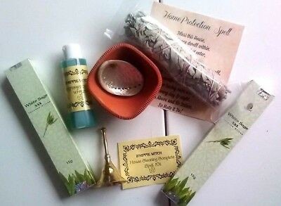 WICCA Magic Witchcraft House Cleaning Protection Complete Spell Kit Ritual Wicca