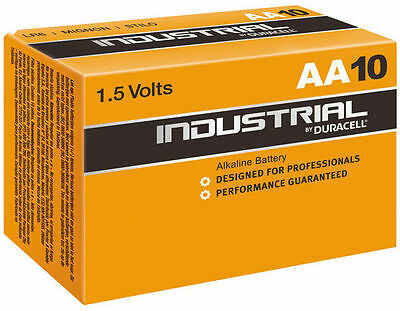 Duracell Industrial AA Procell 10 pack Battery Alkaline