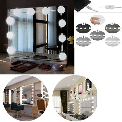 10x Hollywood Style LED Bulbs Vanity Makeup Dressing Dimmable Mirror Lights Kit