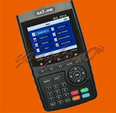 NEW SATLINK WS-6916 HD DVB-S+S2 Satellite Signal Meter Finder with