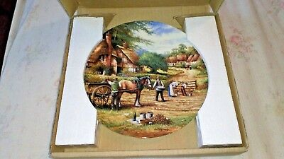 Wedgwood Country Days  Boxed - Planting Potatoes COLLECTORS PLATE