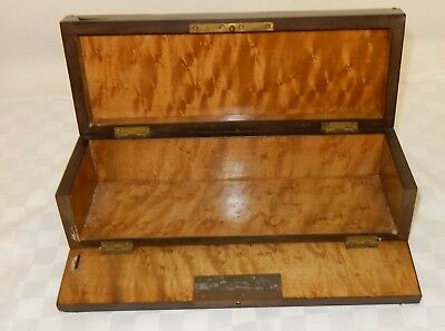Antique Ebonised Brass Inlaid Boulle Fall Front Glove Box
