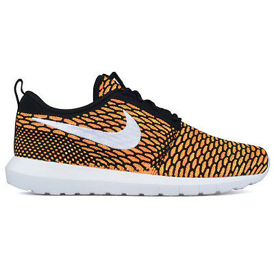detailed look 56761 e84be CHAUSSURES NIKE « Roshe un Flyknit » NEUF Baskets Bk-Wh-Orange Homme Femme