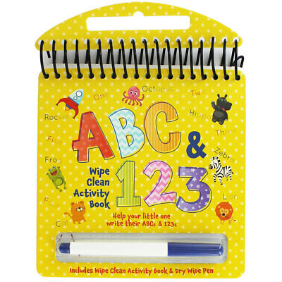 ABC and 123 Wipe Clean Activity Book (Hardback), Children's Books, Brand New