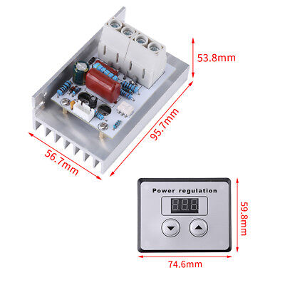 10000W SCR Digital Voltage Regulator Speed Control Dimmer Thermostat AC220V 80A