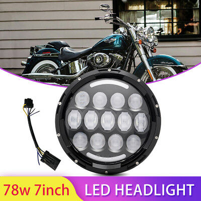 1 Pc 7'' LED Headlight Hi/Low Beam Sealed DRL Lamp For Jeep Wrangler 4x4 Truck