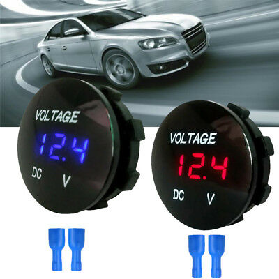 Waterproof CarBoat Motorcycle LED Panel Digital Voltage Meter Display Voltmet RH