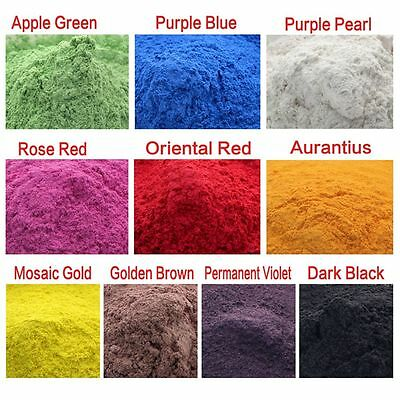 10g Cosmetic Grade Natural Mica Powder Mineral Soap Candle Colorant Dye 10 Color