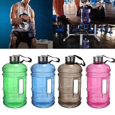 2.2L PETG Large Capacity Water Bottle Training  Sports Workout Drink Bottle 9YR