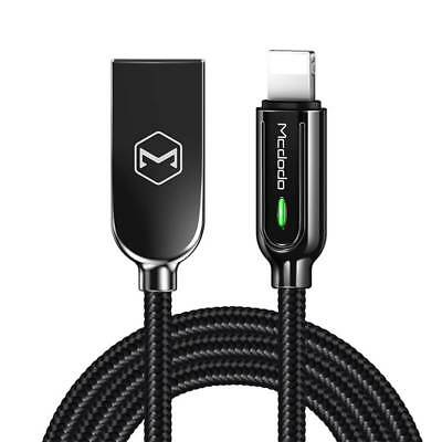 MCDODO Smart LED Auto Disconnect Lightning USB Charging Cable F iPhone 6s 8 XR