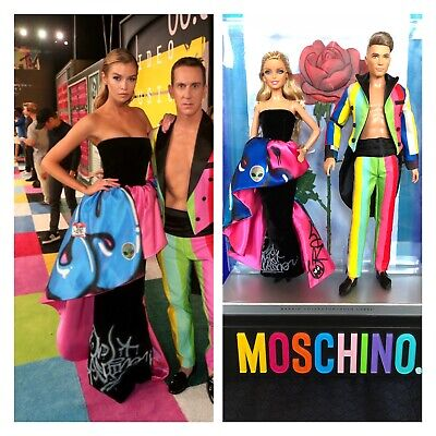 MTV Awards Barbie and Ken Moschino Giftset Drw81 Gold Label collector NRFB