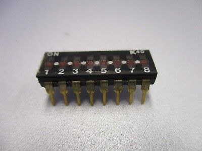 DIP Switch, 8 Position PC Mount DIP Switch (NOS, New Old Stock)(QTY 5 ea)D24