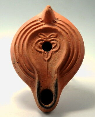 Roman North African Redware Terracotta Oil Lamp (M90)