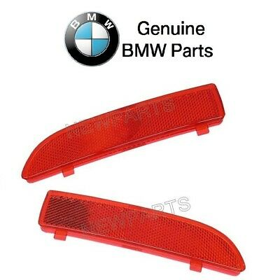 For Set of 2 Rear Red Bumper Cover Reflectors Genuine BMW E84 X1 2010-2015