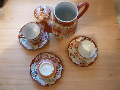Small collection  of  Handpainted Japanese  Cups  saucers  and Teapot