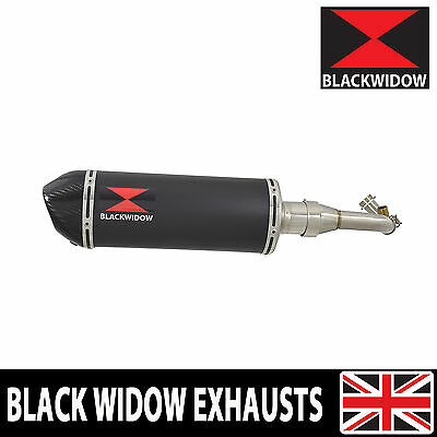 Piaggio Vespa GTS 125 4T 2007-2016 Oval Painted Black Silencer/Carbon Tip 300BT