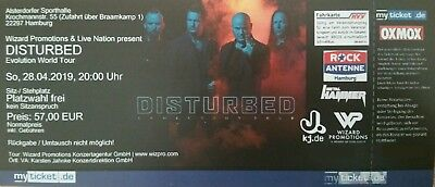 TICKETS DISTURBED HAMBURG SPORTHALLE 28.04.19 Eintrittskarten FAN-TICKETS