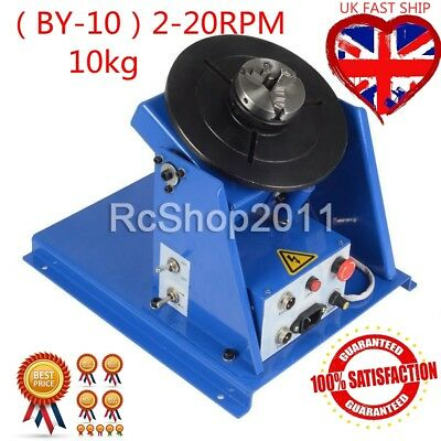 Rotary Welding Positioner Turntable Table 3 Jaw Lathe Chuck 2-10 RPM 220V 10KG