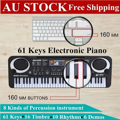 61 Keys Children Musical Instrument Electronic Piano Keyboard 16 Timbre NEW M15Z