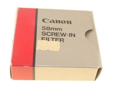 Canon 58Mm Screw In Filter Second Hand Good Condition Genuine