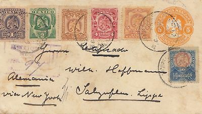 Mexico 1904: Registered letter via New York to Bad Salzuflen