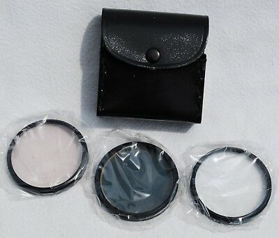 JCPenney 52mm Camera Filter Set - Skylight, Polarizing, and +4 Close-Up NOS