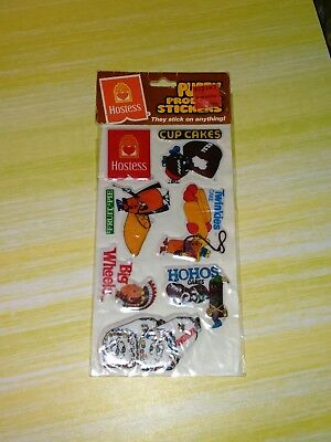 Vintage 1982 Hostess Puffy Product Stickers Twinkies Wonder Bread 80's NOS