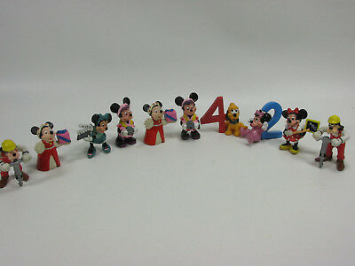 """10 Vintage Minnie Mouse Applause PVC Figures Goofy Pluto Cake Toppers Mickey 2"""""""