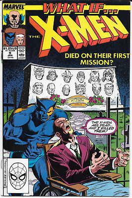 What If X-Men Died On Their First Mission #9B 1990 Marvel Comics FREE BAG/BOARD