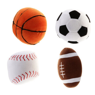 Soft Stuffed Baseball Basketball Rugby Football Sports Toy Baby Plush Toy Play