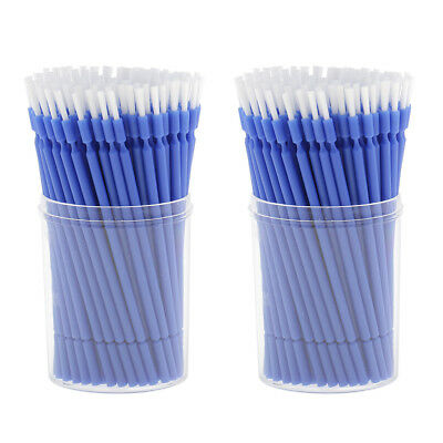 200pcs Blue Dental Lab Long Tipped Disposable Micro applicators Brushes