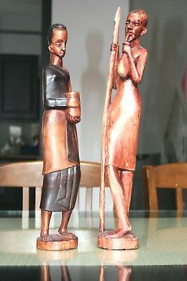 Two Hand Crafted Tribal African Sculptures From Our Art Collection Unique Pieces