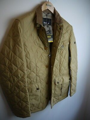 Barbour Men's International Derailer Quilted Jacket, New With Tags, Medium, Tan