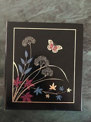 vintage hallmark address book phone album 6 ring binder black w