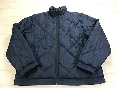 546940eba6 Vintage Retro Adidas Navy Blue Puffer Puffy Big Spell Out Coat Jacket Size  Large