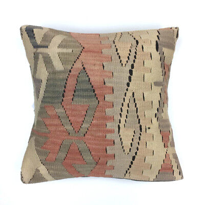 Vintage Kilim Cushion Cover Kelim Pillow 50x50cm Moroccan  style  5047