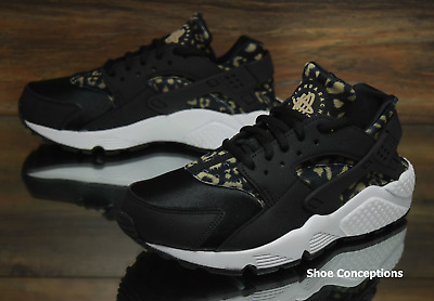 a50ee67417d9e Nike Air Huarache Run Print Black Khaki 725076-007 Women s Shoes Multi Size