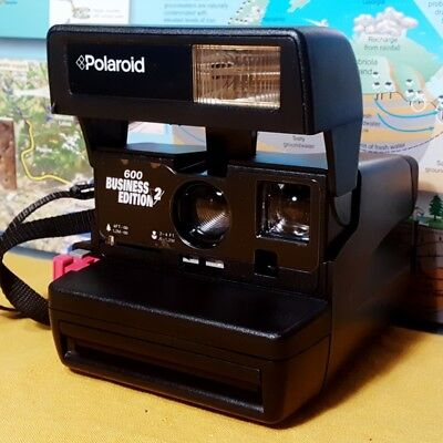 EXCELLENT CONDITION ~ Polaroid 600 Business Edition 2 Instant Film Land Camera