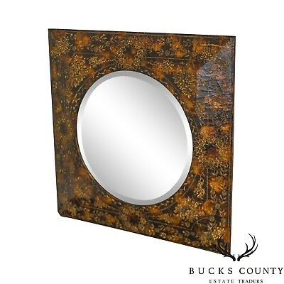 Maitland Smith Faux Painted Decorative Wall Mirror