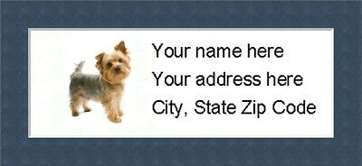 "Yorkshire Terrier Return Address Labels  - Personalized ""BUY 3 GET ONE FREE"""