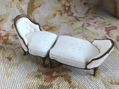 Bluette Meloney Dollhouse Estate Sale Nancy Summers Chaise Lounge Sofa Couch 425