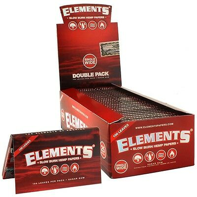 Elements Red Hemp Natural Unrefined Hemp Rolling Papers - 1 Pack - Single Wide
