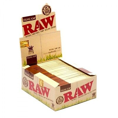 RAW Classic Hemp Natural Organic Hemp Gum Rolling Papers 1 Pack King Size Slim